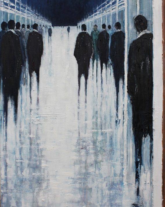 In-the-Dark-Lesley-Oldaker-Oil-Original-50cmx50cm-urban-figurative-art